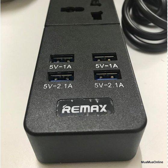 Ổ Cắm Điện Thông Minh Remax B-T08 4 Usb 3 Ổ Cắm