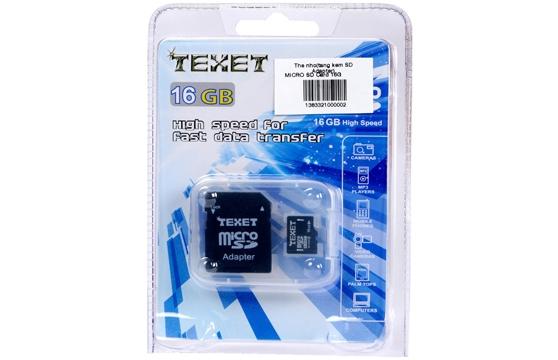 Thẻ Nhớ Microsd 16G Texet Chính Hãng