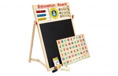 Bảng Gỗ 2 Mặt Nam Châm Education Board Và Bộ Chữ Số Cho Bé Cao Cấp