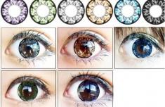 Bộ Lens Gắn Mắt Xanh, Nâu Đủ Màu