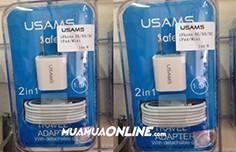Bộ Sạc Iphone Lightning 5 - 6  Usam Chính Hãng