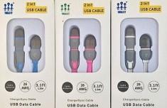 Cáp Sạc 2 Đầu Iphone, Samsung Tiện Dụng