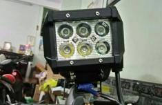Đèn Led Trợ Sáng 6 Led 18W Cho Moto, Xe Máy