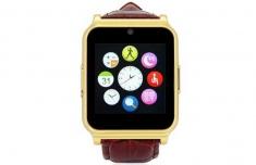 Đồng Hồ Thông Minh Dây Da Smartwatch Phone W90 Chính Hãng