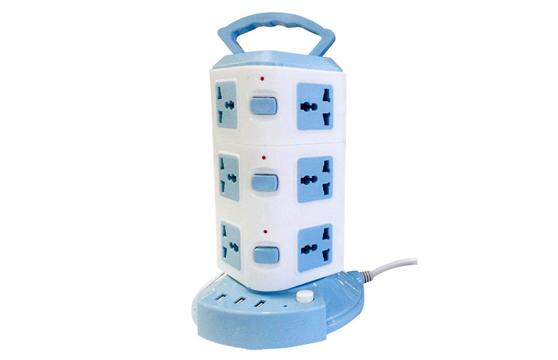 Ổ Cắm Điện Đa Năng 3 Tầng 12 Ổ Cắm 3 Cổng USB