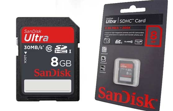 Thẻ Nhớ Sdhc Sandisk 8G Chính Hãng