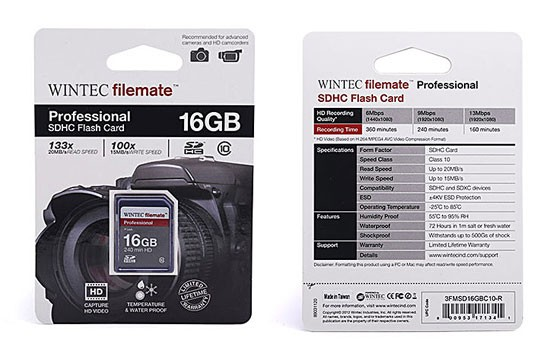 Thẻ Nhớ Wintec Microsd 16G Class 10 Chính Hãng