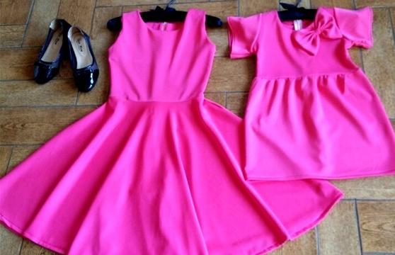 Đầm Đôi Mẹ Và Bé Pink