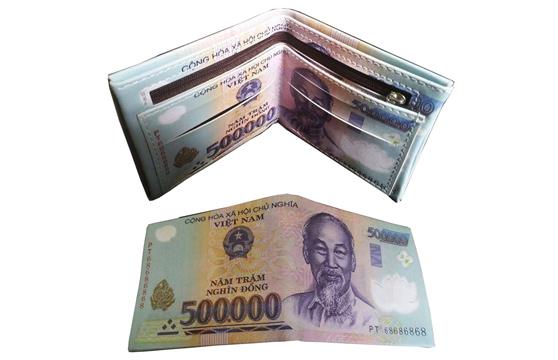 Bóp Ví Nam Hình Tiền 500K Cao Cấp