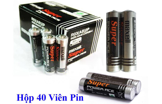 Hộp 40 Viên Pin Tiểu AAA (3A) Maxell Super 1.5V Cao Cấp