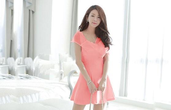 Đầm  Nơ Hồng Princess