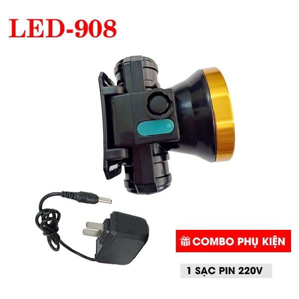 Đèn Pin Đội Đầu Pin Sạc LZW-908 50W  + Tặng Kèm Bộ Sạc