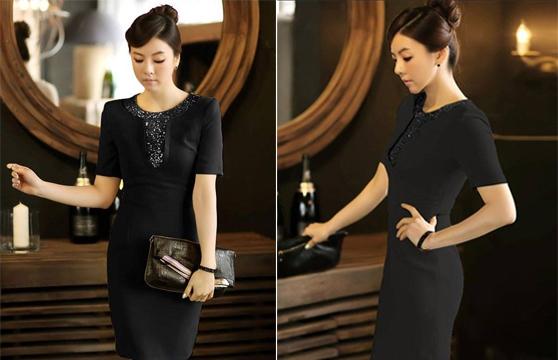 Đầm Body Đính Kim Sa