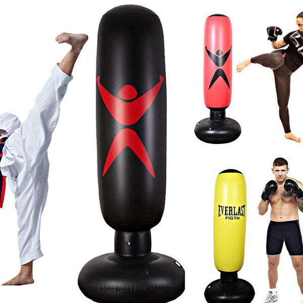 Bao Trụ Đấm Bốc Boxing Bơm Hơi Tự Cân Bằng Cao 1.6m