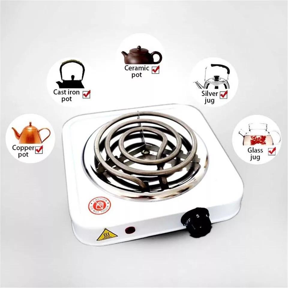 Bếp Điện Gia Dụng 1000W Hot Plate Làm Nóng Cafe, Nấu Đa Năng