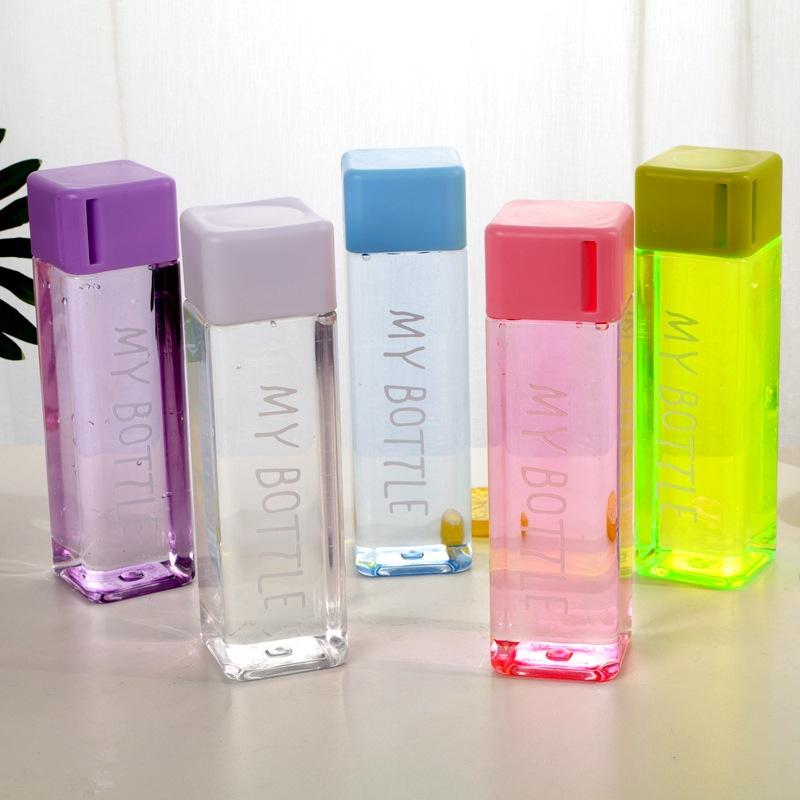 Bình Nước Nhựa My Bottle Nắp Vuông 500ml