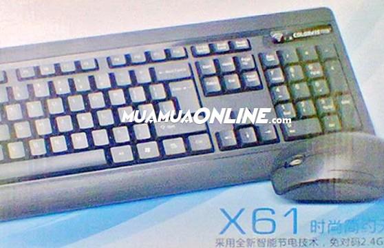 Bộ Bàn Phím Và Chuột Không Dây Colorvis X-61 Chính Hãng