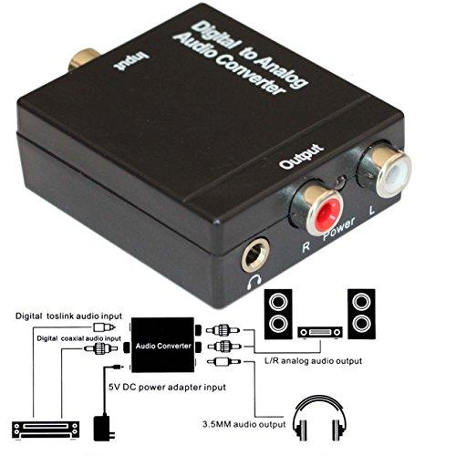Bộ Chuyển Đổi Âm Thanh Từ Optical Ra Av Audio Kèm Nguồn 5V (Digital To Analog Audio)
