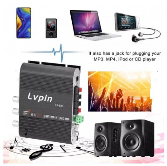 Ampli Mini Lvpin Hi-Fi 2.1CH LP-838 Super Bass