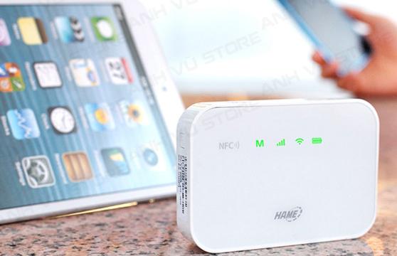 Bộ Phát Wifi Di Động Từ Sim 3G,4G Hame A19 Tích Hợp Pin Dự Phòng 5200Mah