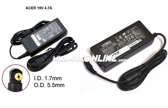 Bộ Sạc Laptop Adapter Acer 19V 4.7A