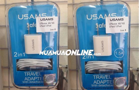 Bộ Sạc Iphone 3 - 4 Usam Chính Hãng