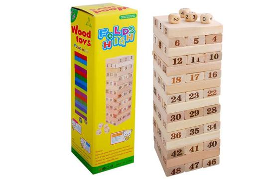 Bộ Trò Chơi Rút Gỗ 48 Thanh Wood Toy Loại Lớn