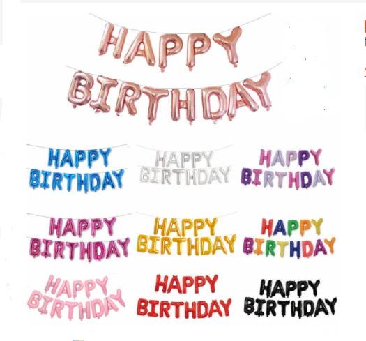 Bong Bóng Trang Trí Sinh Nhật Chữ Happy Birthday