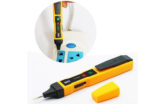Bút Thử Điện Âm Tường SP-8802 Cao Cấp + Tặng Kèm 2 Viên Pin