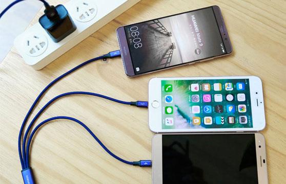 Cáp Sạc Nhanh Baseus Tích Hợp 3 Đầu Kết Nối Type C, Android Và Lightning