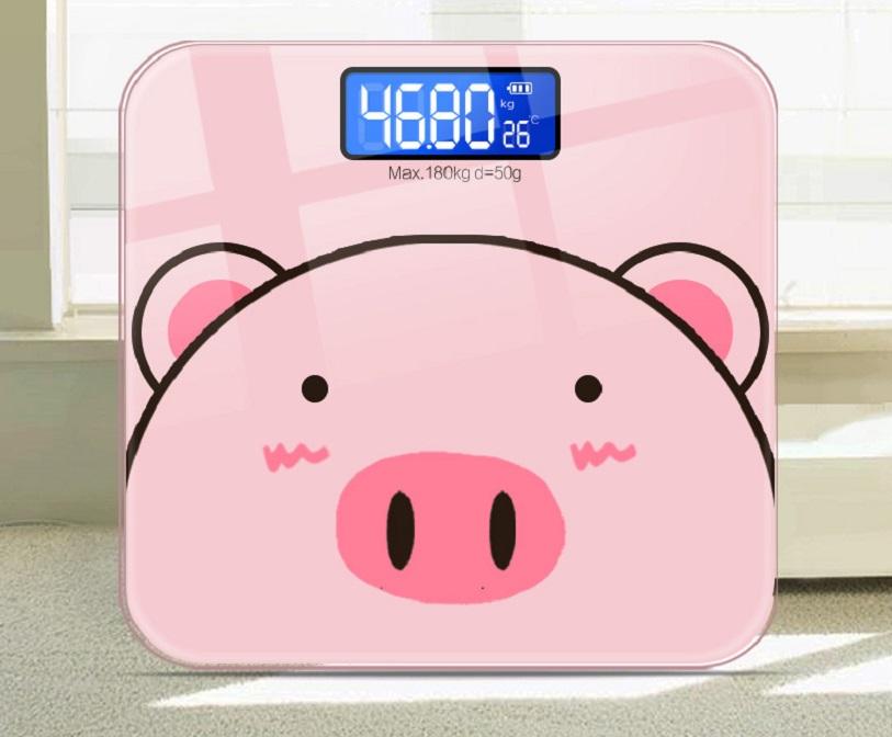 Cân Điện Tử Hình Heo 180kg Tích Hợp Đo Nhiệt Độ