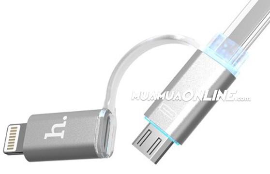 Cáp Sạc Iphone - Samsung 2 Đầu Hoco Đa Năng Chính Hãng