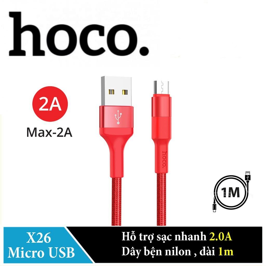Cáp Sạc Hoco X26 Cổng Micro Dây Dài 1m