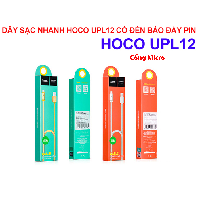 Cáp Sạc Hoco Upl12 120Cm Cổng Micro