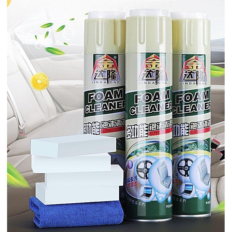 Chai Xịt Bọt Tuyết Foarm Cleaner  Vệ Sinh Ô Tô / Xe Hơi Đa Năng 650ml