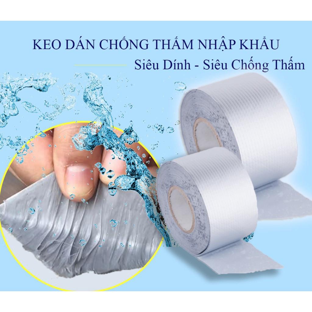 Băng Keo Siêu Dính WaterProof Dài 10M Chuyên Dán Chống Thấm Cho Tường, Mái Tôn, Ống Nước, Phao Bơi ...