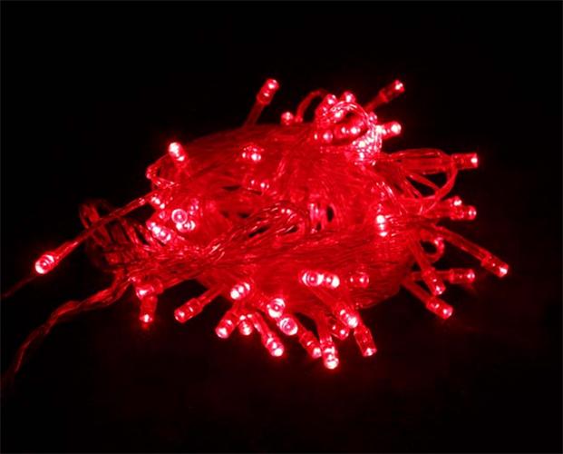 Dây Đèn Led Chớp Màu Đỏ 5m5 Bóng Tiêu