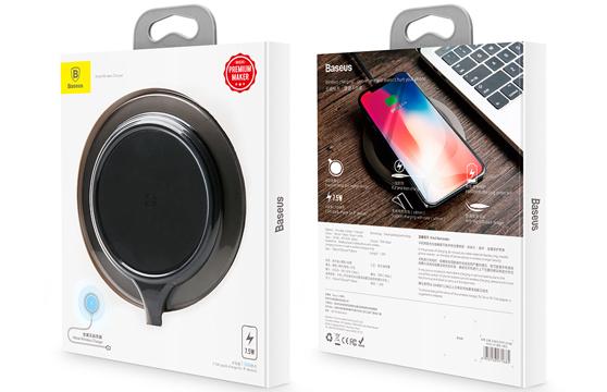Đế Sạc Không Dây Baseus Metal Lv251 Cho Apple Iphone 8/ Iphone X / Samsung S8/ S9/ Note 8