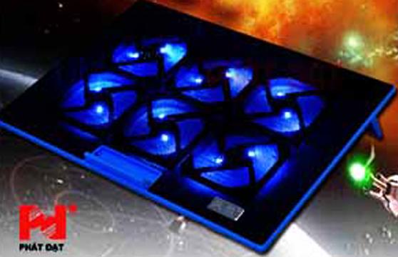 Đế Tản Nhiệt Laptop Shinice K6 6 Quạt