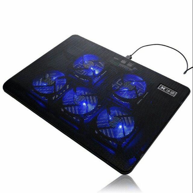 Đế Tản Nhiệt Laptop Cooling Pad V5 5 Quạt Lớn Có Led