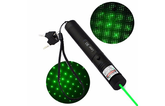 Đèn Pin Laser 303 Tia Xanh Siêu Sáng Kèm Pin Và Sạc