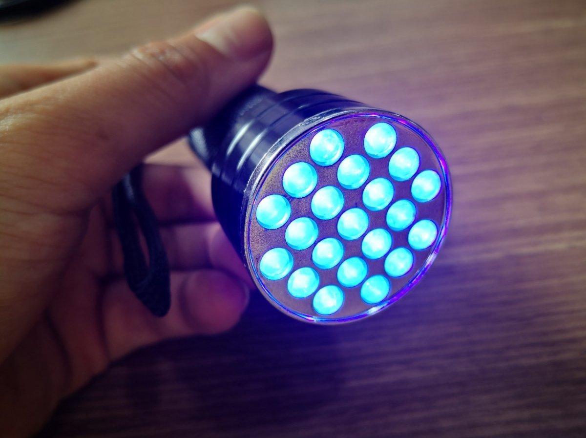 Đèn UV 21 Bóng Led  Chuyên Dùng Sấy Keo UV, Soi Tiền, Sấy Móng