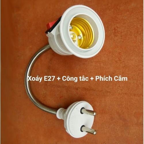 Đui Đèn E27 Uốn Dẻo Có Công Tắc Dài 28cm