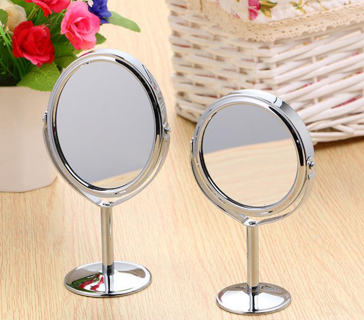 Gương Tròn Oval Trang Điểm 2 Mặt Gương Khung Inox