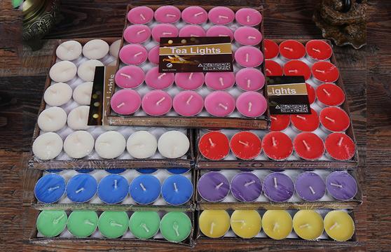 Hộp 50 Viên Sáp Nến Tea Lights Nhiều Màu