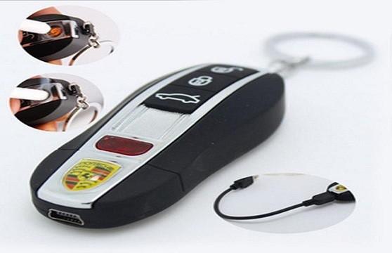 Hộp Quẹt Bật Lửa Sạc Điện Hình Siêu Xe Porsche