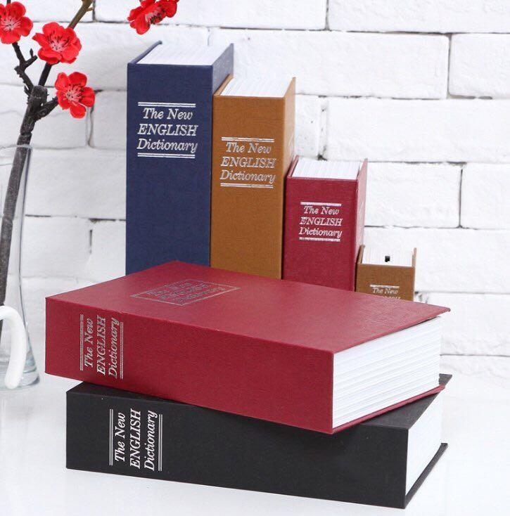 Két Sắt Hình Quyển Sách Mini Kèm Chìa Khóa