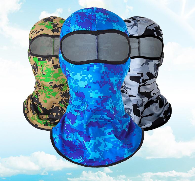 Mũ Trùm Đầu Ninja Chông Nắng Nhiều Màu Trùm Nguyên Mặt Và Cổ