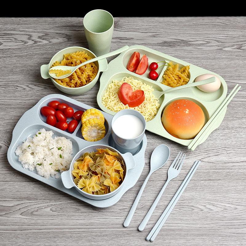 Hộp 6 Món Khay ăn Dặm Lúa Mạch An Toàn Cho Bé