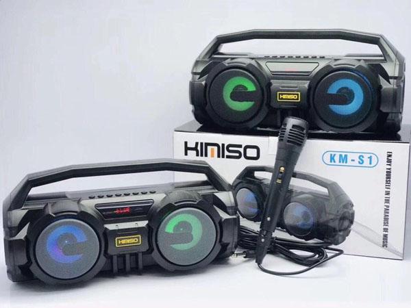 Loa Bluetooth Kimiso KM-S1 Có Led Cực Hay Tặng Kèm Mic Và Dây